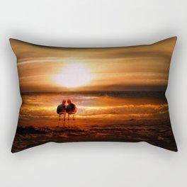 Seagulls - Lovebirds at Sunset Rectangular Pillow