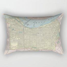 Vintage Map of Louisville KY (1901) Rectangular Pillow