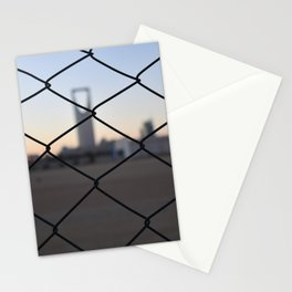 Kingdom Center in Saudi Arabia Stationery Cards