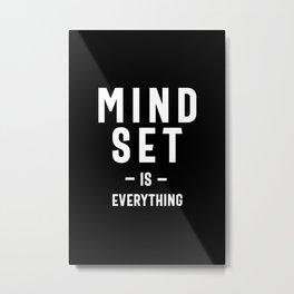Growth Mindset Entrepreneur Teacher Fitness Motivation Metal Print