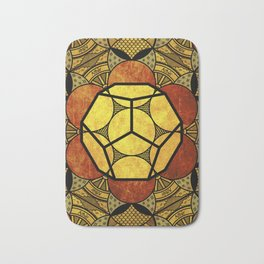 Sacred Geometry for your daily life -  Platonic Solids - ETHER COLOR Bath Mat
