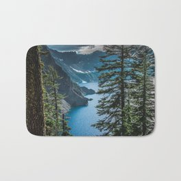 Blue Crater Lake Oregon in Summer Bath Mat