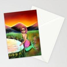 Sunset Mermaid Stationery Cards