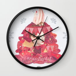 Christmas Collage Wall Clock
