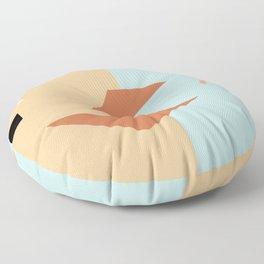 Croissant sandwich Floor Pillow