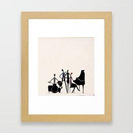 Blue note Framed Art Print