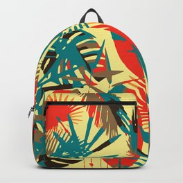 Abstract Exotique Leaves Backpack