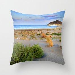 """Genoveses Beach"" Sunset at beach Throw Pillow"