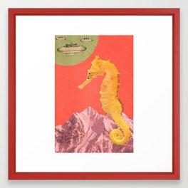 dia de hipocampo Framed Art Print