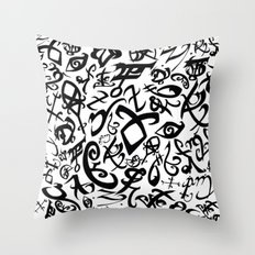 Shadowhunter Runes Throw Pillow