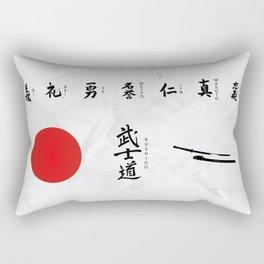 7 Virtues of Bushido Rectangular Pillow