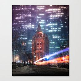 urban aurora Canvas Print