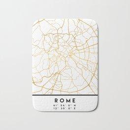 ROME ITALY CITY STREET MAP ART Bath Mat