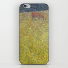 Boy Sitting in a Meadow iPhone Skin