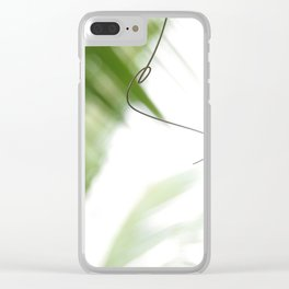 Peaceful green shades of graceful nature Clear iPhone Case