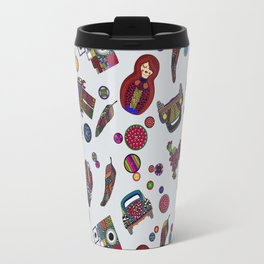 Patchs and Buttons 1 Travel Mug