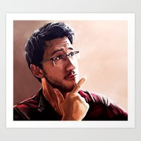 markiplier Art Prints featuring Markiplier by JazzySatinDoll