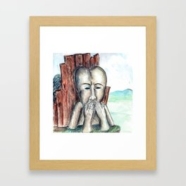 silent monument Framed Art Print