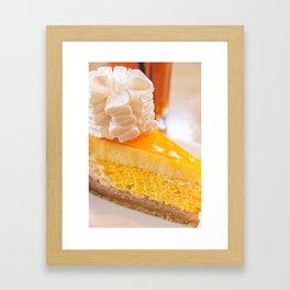 Cheesecake #food #dessert #sweets Framed Art Print
