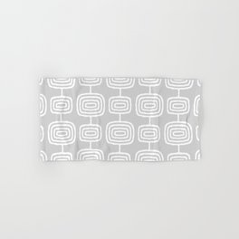 Mid Century Modern Atomic Rings Pattern 731 Gray Hand & Bath Towel