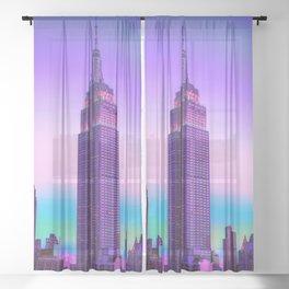 New York, New York Sheer Curtain