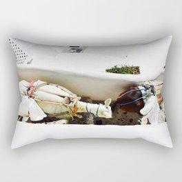Donkey Trail in Santorini Rectangular Pillow