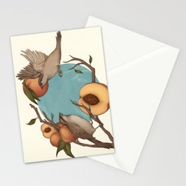 Birds & Peaches Stationery Cards