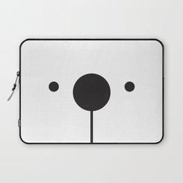Black & White Minimalist Bear Concept Laptop Sleeve