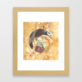The Crow and the Pitcher Framed Art Print