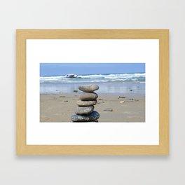 MEDITATION ROCKS Framed Art Print