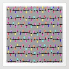Party lights! purple Art Print