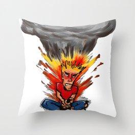 Intense Gamer Throw Pillow