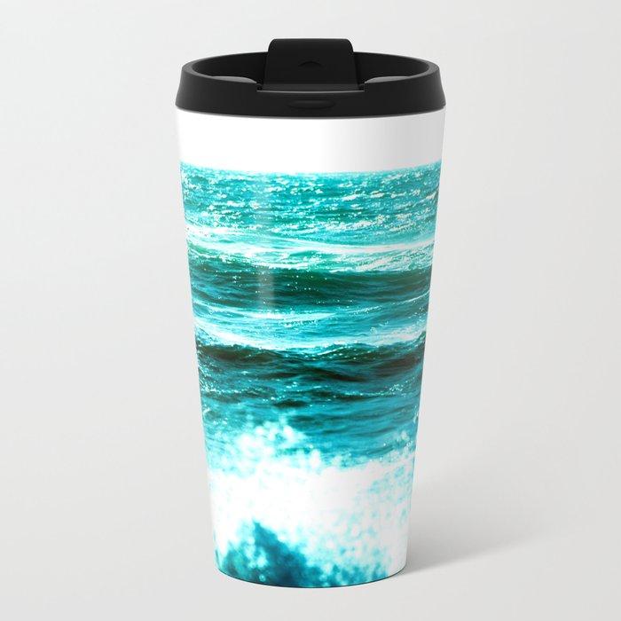 California Ocean Waves Metal Travel Mug