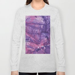 Smokey Ultra Violet and Pink Marble Long Sleeve T-shirt