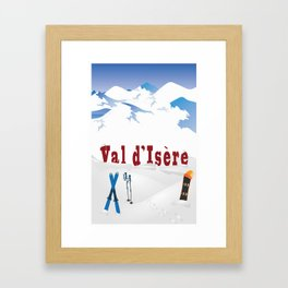 Val d'Isère, French Alps Framed Art Print