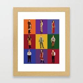 firefly characters Framed Art Print