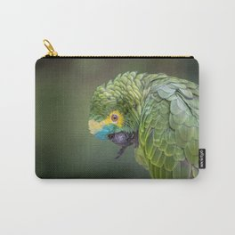 bird green puerto rico animal Carry-All Pouch