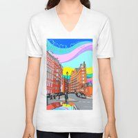 chelsea V-neck T-shirts featuring Chelsea by Emanuele Taglieri