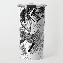 Femme Loup Tattoo Travel Mug