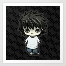 Death Note L Art Print
