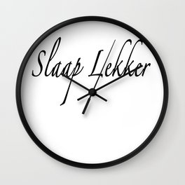 Slaap Lekker Pillow Wall Clock