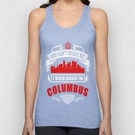 I Was Born In Columbus Unisex Tank Top