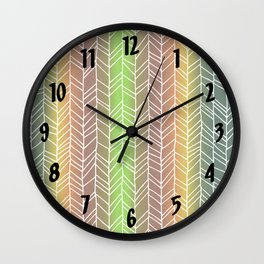 Colorful Rainbow Feather Pattern Wall Clock