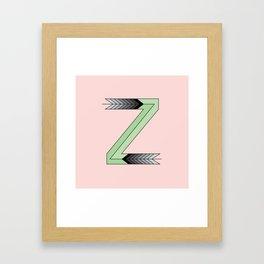 Letter Z - 36 Days of Type  Framed Art Print
