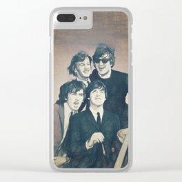 Beatle - John, Paul, George, and Ringo Clear iPhone Case