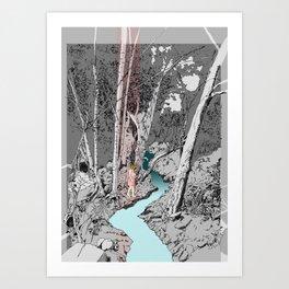 Crossing River Art Print