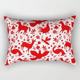 Otomi in red Rectangular Pillow