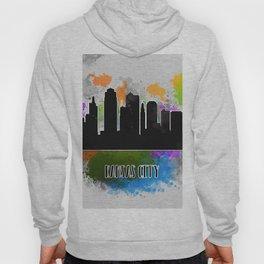 Kansas city skyline silhouette Hoody
