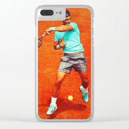 Rafael Nadal Tennis On Clay Clear iPhone Case