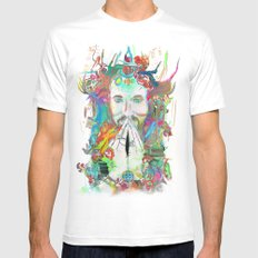 Dissolve into Light Mens Fitted Tee MEDIUM White